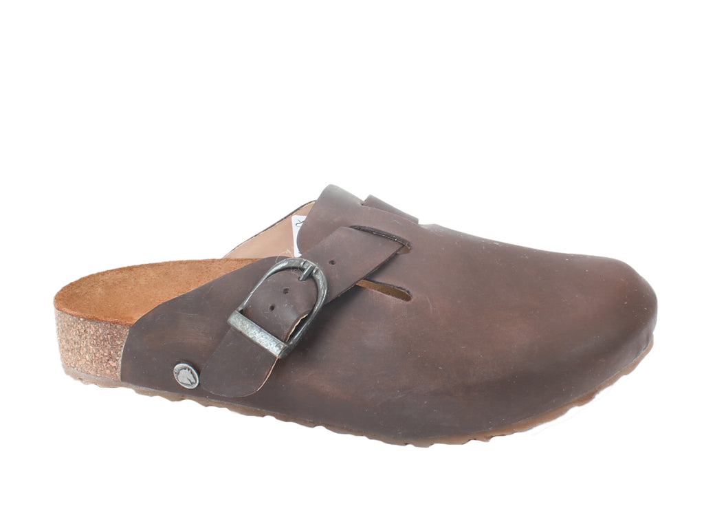 Haflinger Leather Clogs Lorenzo Brown SIDE VIEW