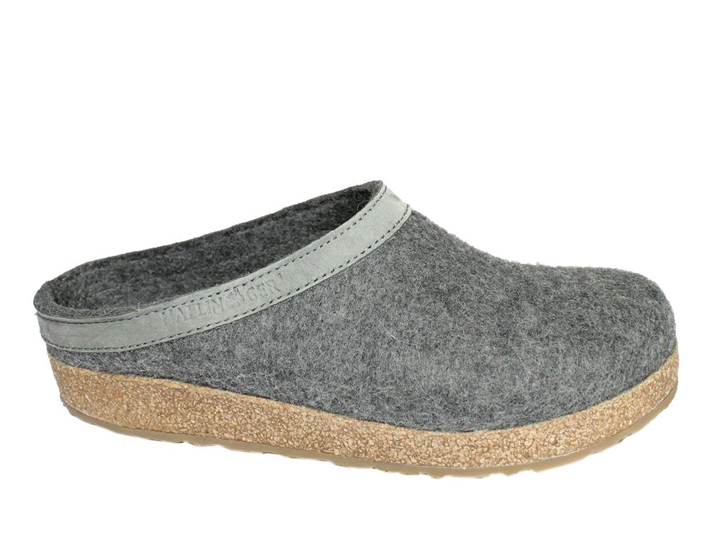 Haflinger Clogs Grizzly Torben Anthracite side view