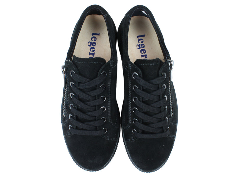 Legero Trainers Tanaro 00616 Black zip upper view