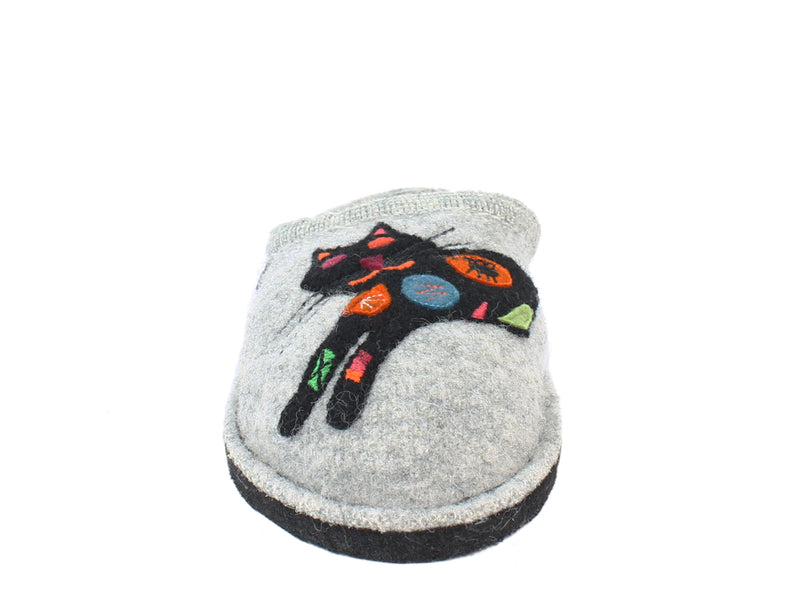 Haflinger Slippers Flair Sassy Grey front view