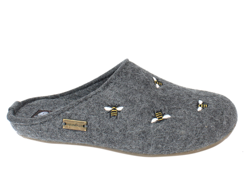 Haflinger Slippers Everest Bees Anthracite side view