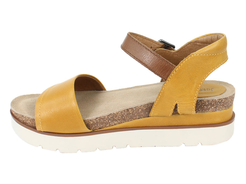 Josef Seibel Sandals Clea 01 Gelb Yellow side view