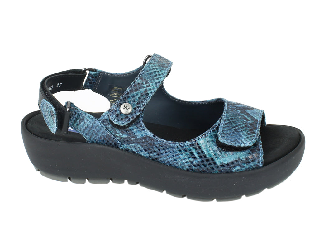 Wolky Sandals Rio Turquoise SIDE VIEW