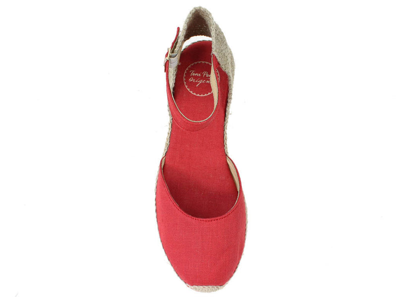 Toni Pons Sandals Romina Red top view
