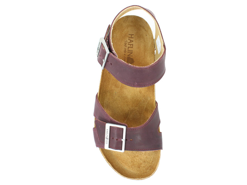 Haflinger Sandals Rebecca Bordeaux top view