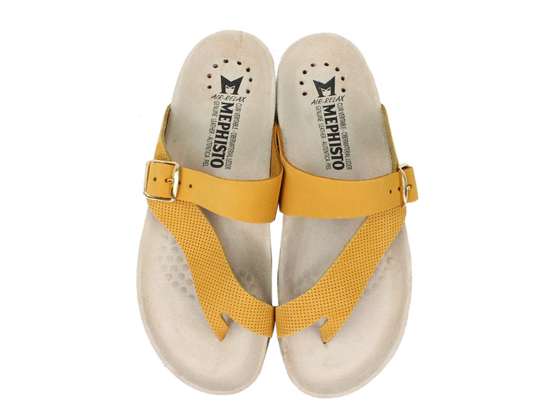 Mephisto Women Sandals Helen Mustard upper view