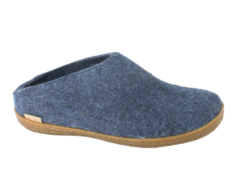 Glerups Slippers Jeans Rubber Sole side view