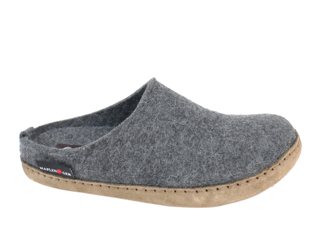 Haflinger Felt Slippers Emil Anthracite side view