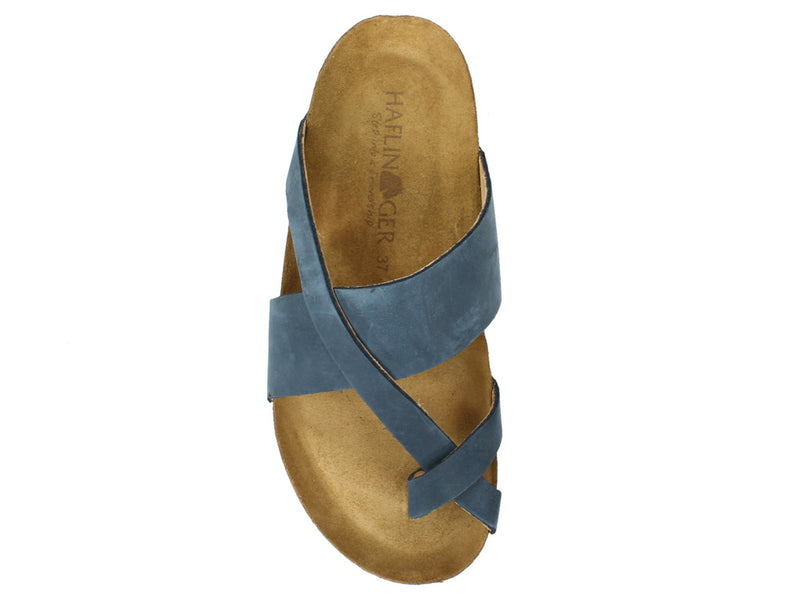 Haflinger Sandals Jacks Navy top view