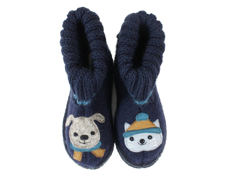 Haflinger Children's slippers Kisses ocean uppers