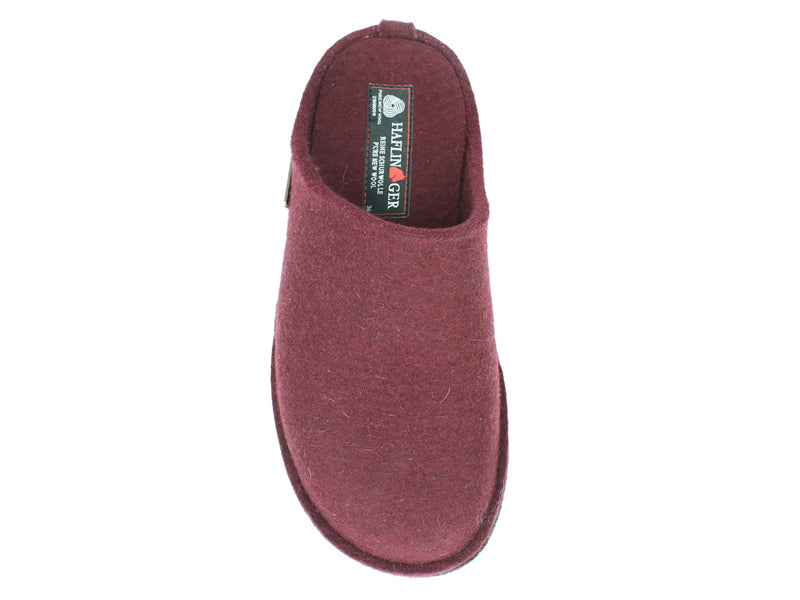 Haflinger Slippers Flair Soft Bordeaux top view