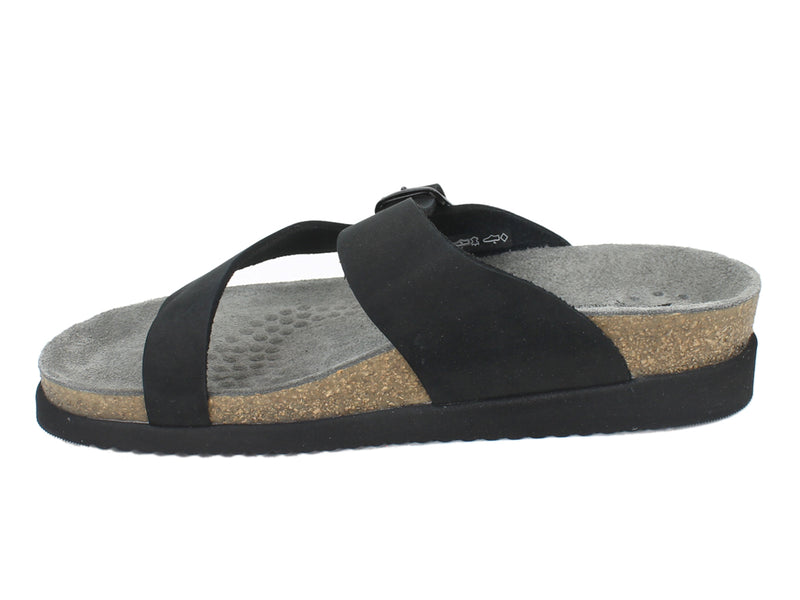 Mephisto Sandals Helen Nubuck Black side view