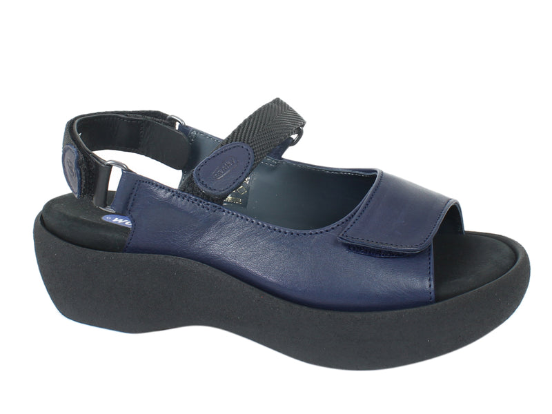 Wolky Sandals Jewel Navy Blue side view