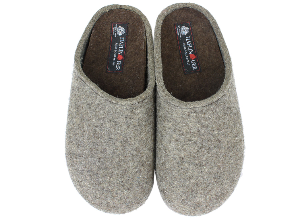Haflinger Clogs Grizzly Michl Torf upper view