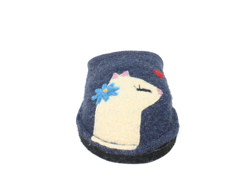Haflinger Slippers Flair Cats Love Jeans front view