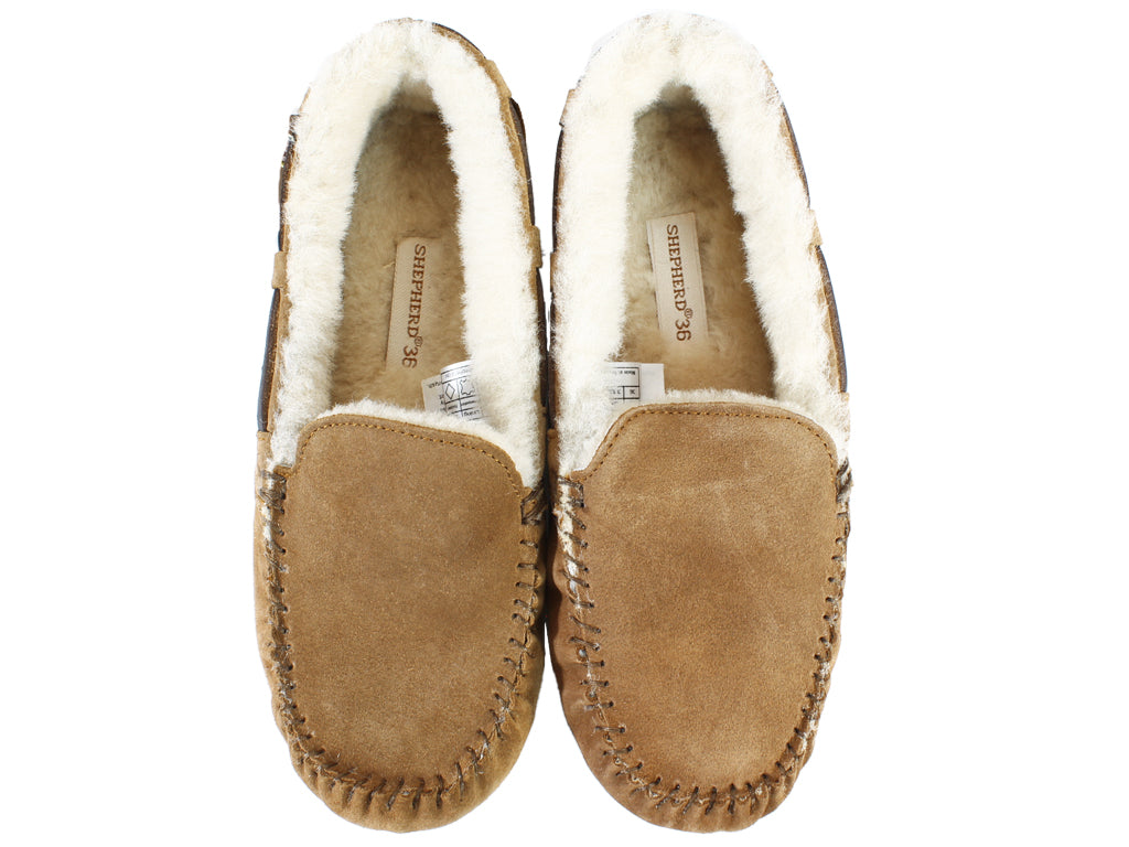 Shepherd Slippers Mirre Sheepskin Chestnut upper view