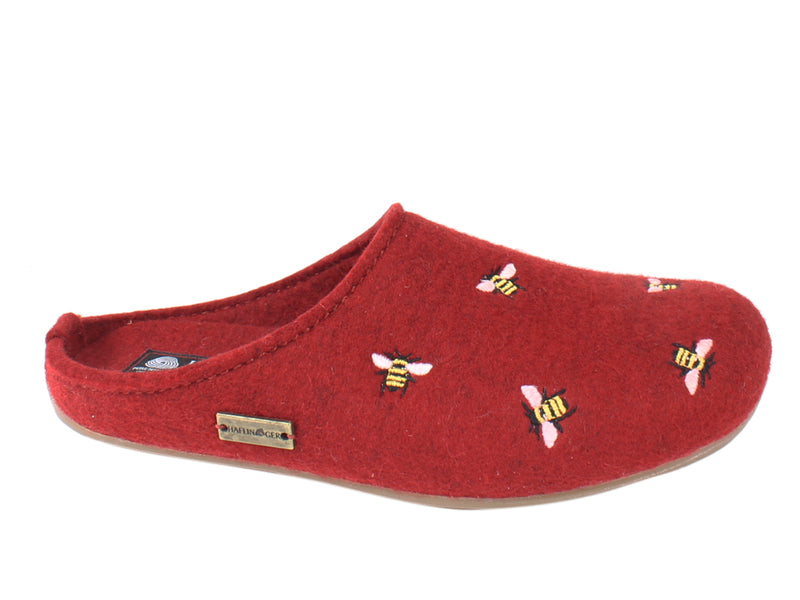 Haflinger Slippers Everest Bees Rubin side view
