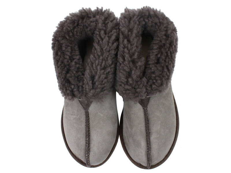 Celtic & Co Slippers Sheepskin Bootee Vole upper wview