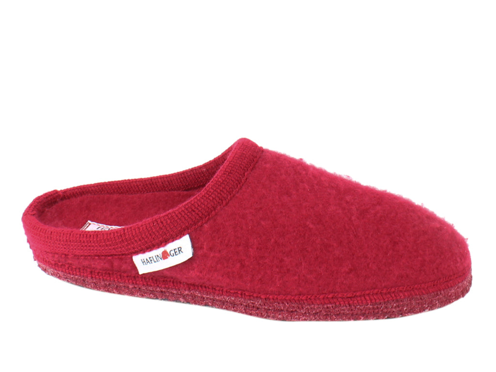 Haflinger Slippers Cashmere Red side view