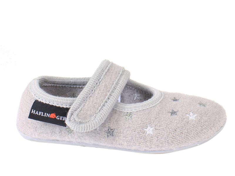 Haflinger Children's slippers Everest Sturdust Grey side view