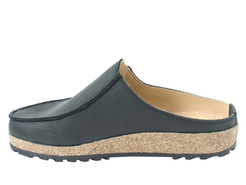Haflinger Leather Clogs Kolding Black