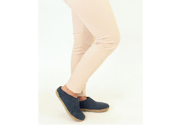 Glerups open heel Denim