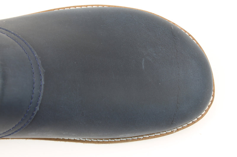 Haflinger Leather Clogs Travel Navy (Second Quality)