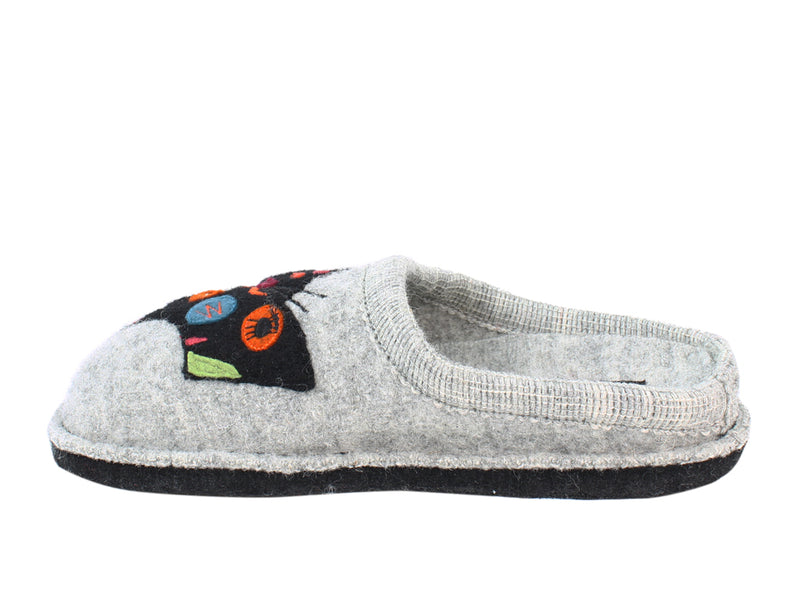 Haflinger Slippers Flair Sassy Grey side view