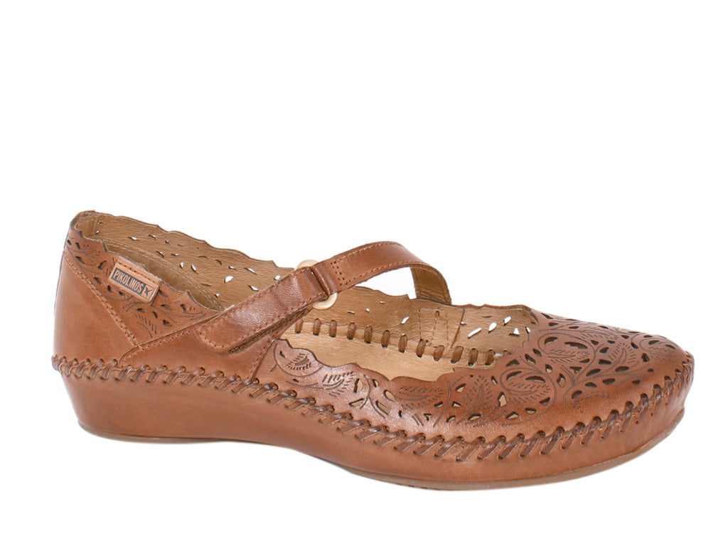 Pikolinos Shoes Vallarta 655-0898 Brandy side view