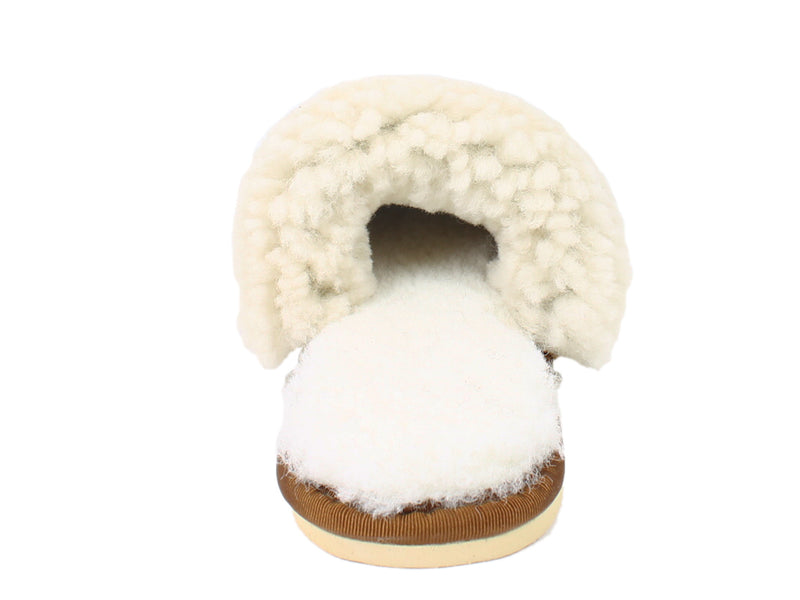Celtic & Co Slippers Sheepskin Turnback Spice back view