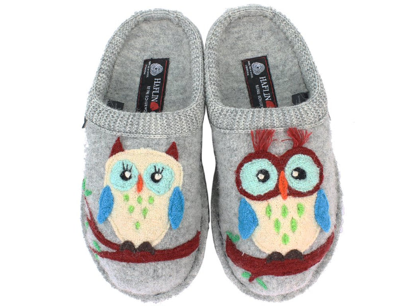 Haflinger Slippers Flair Olivia Grey upper view