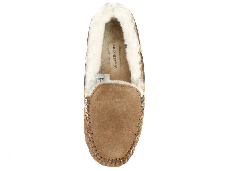 Shepherd Slippers Mirre Sheepskin Chestnut top view