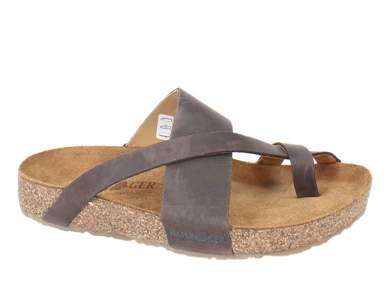Haflinger Sandals Jack Brown side view