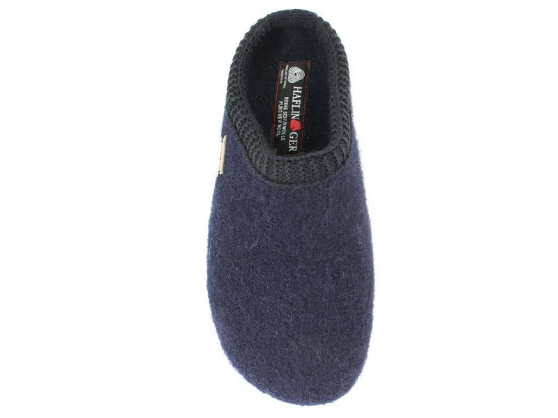 Haflinger Slippers Everest Classic Ocean top view