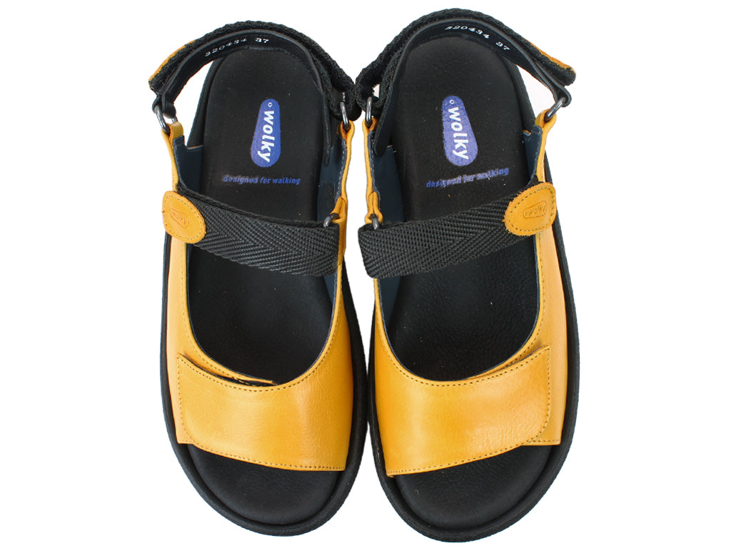 Wolky Sandals Jewel Ochre UPPER VIEW