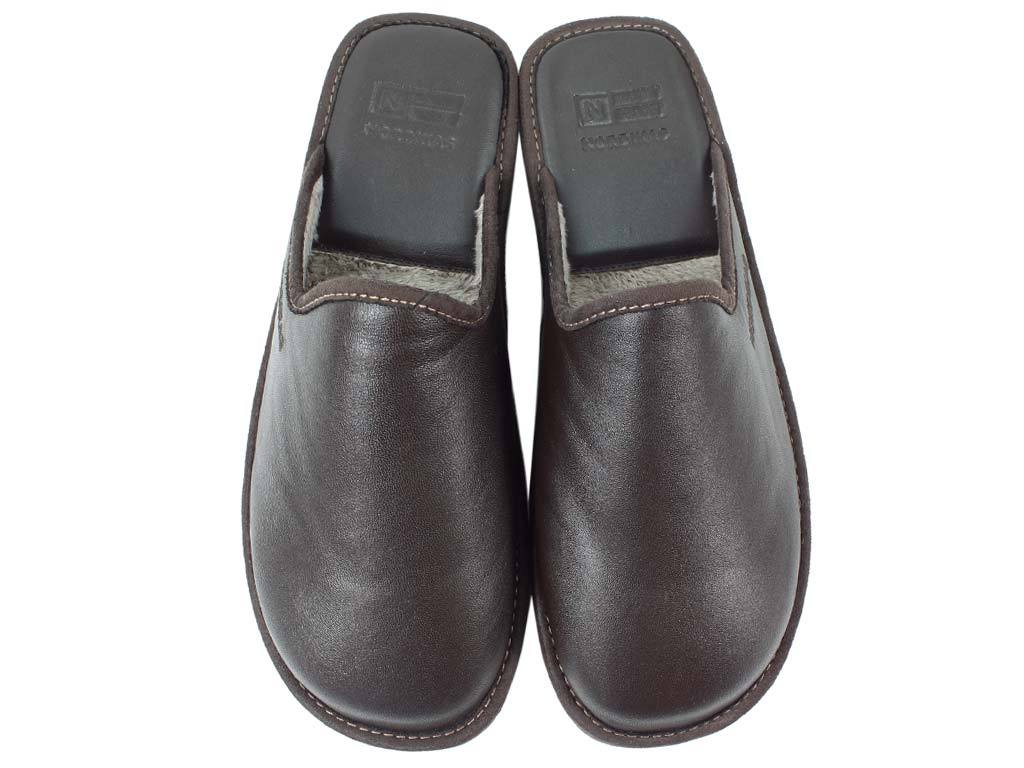 Nordikas Men Slippers Moka upper view