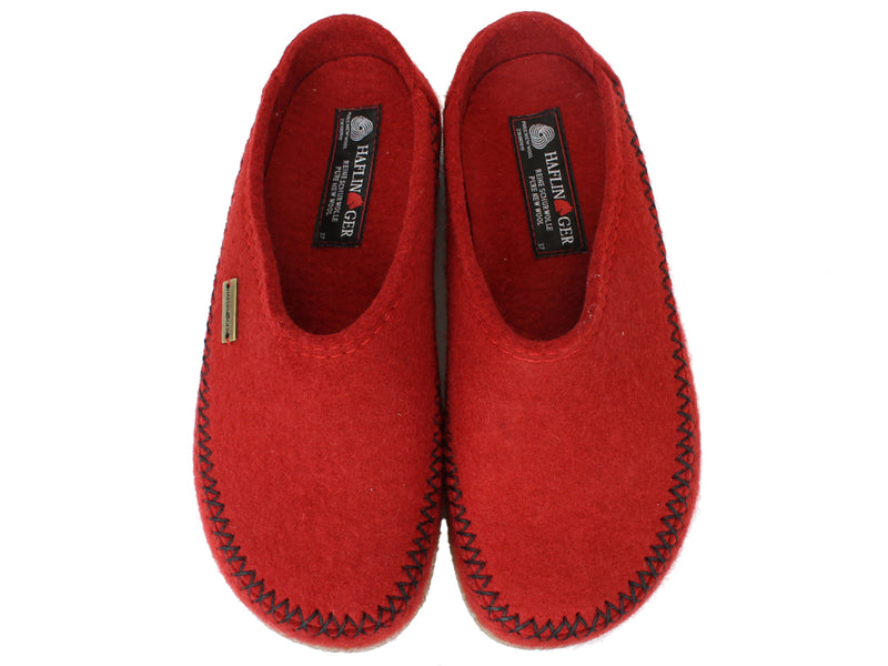 Haflinger Slippers Blizzard Credo Rubin upper view