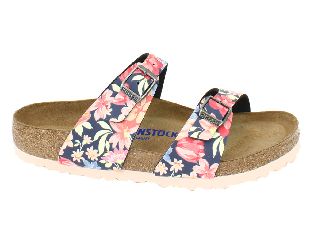 Birkenstock Sandals Sydney Flowers Navy side view