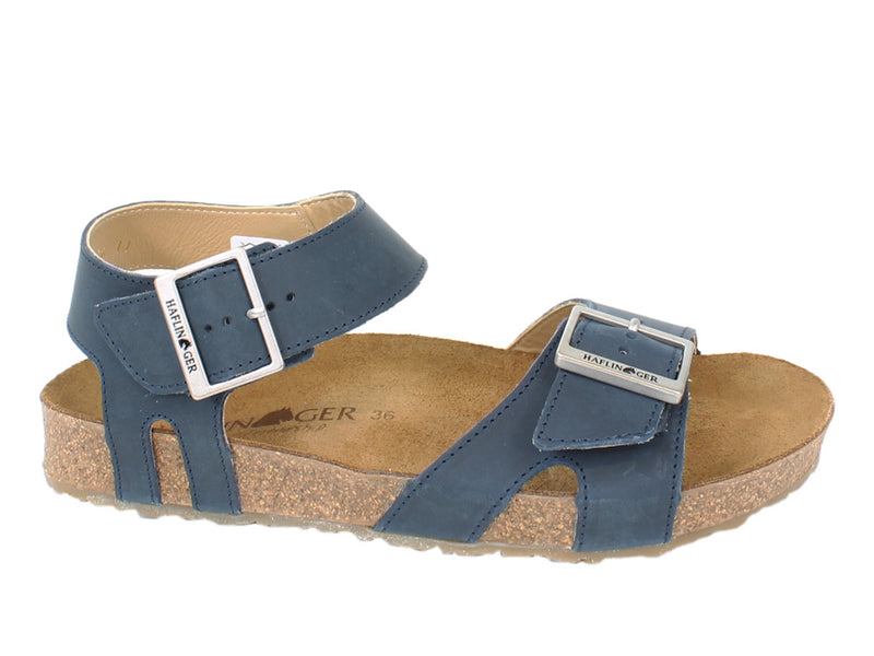 Haflinger Sandals Rebecca Navy side view
