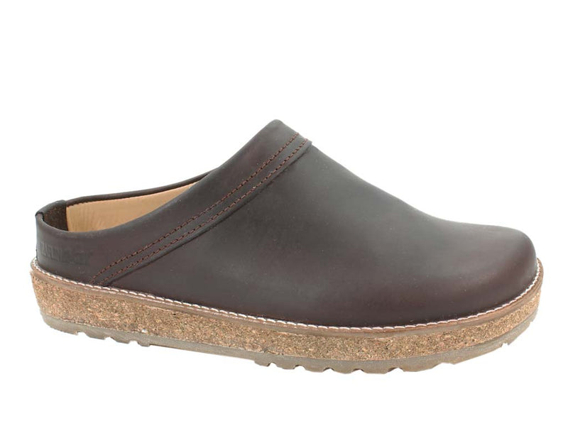Haflinger Leather Clogs Travel Brown