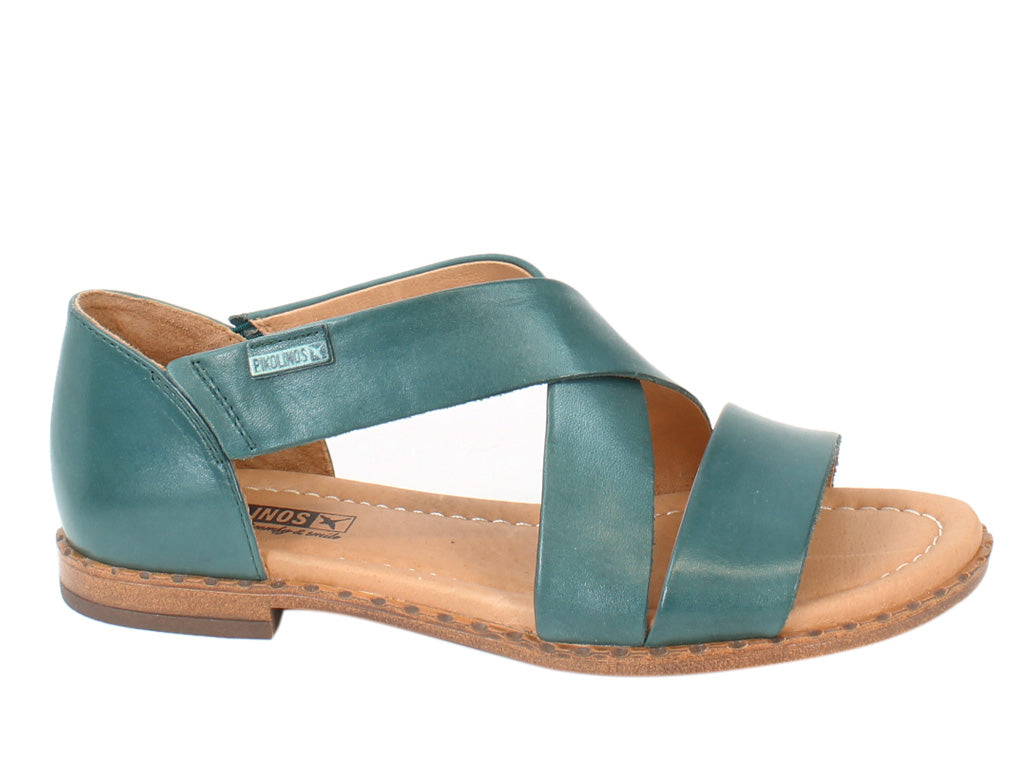 Pikolinos Women Sandals Algar W0X-0552 Emerald side view