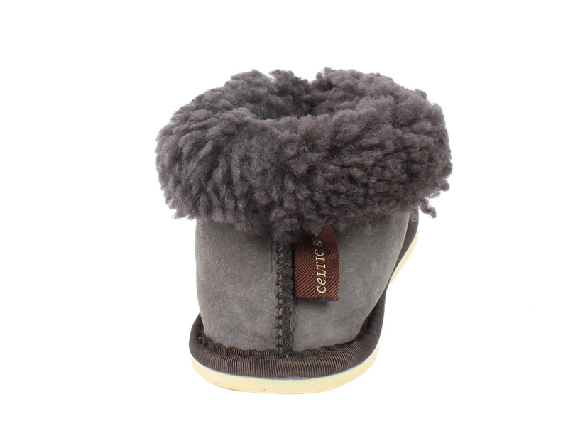 Celtic & Co Slippers Sheepskin Bootee Vole back view