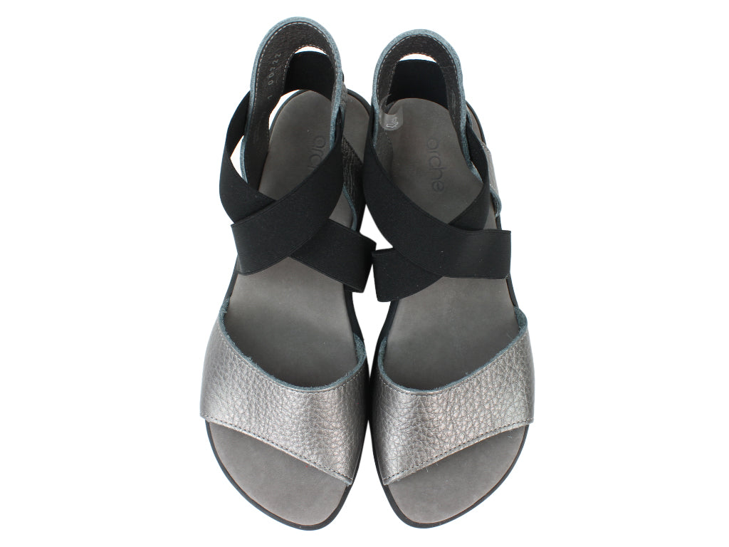 Arche Sandals Satia Iron Grey upper view
