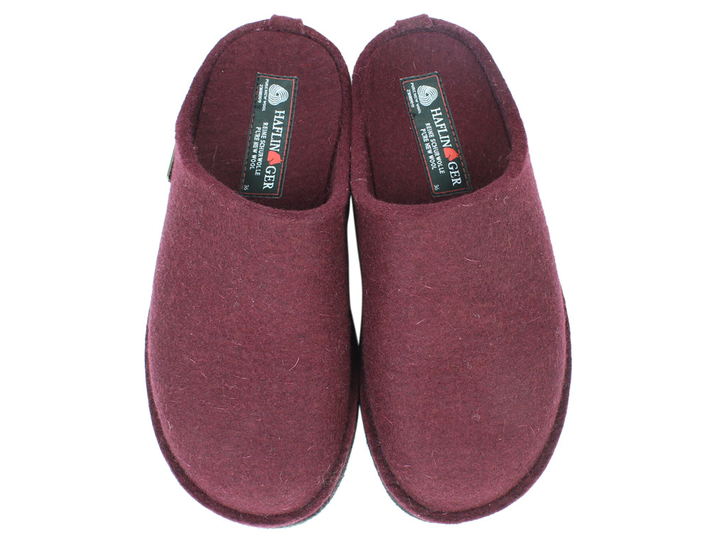 Haflinger Slippers Flair Soft Bordeaux upper view