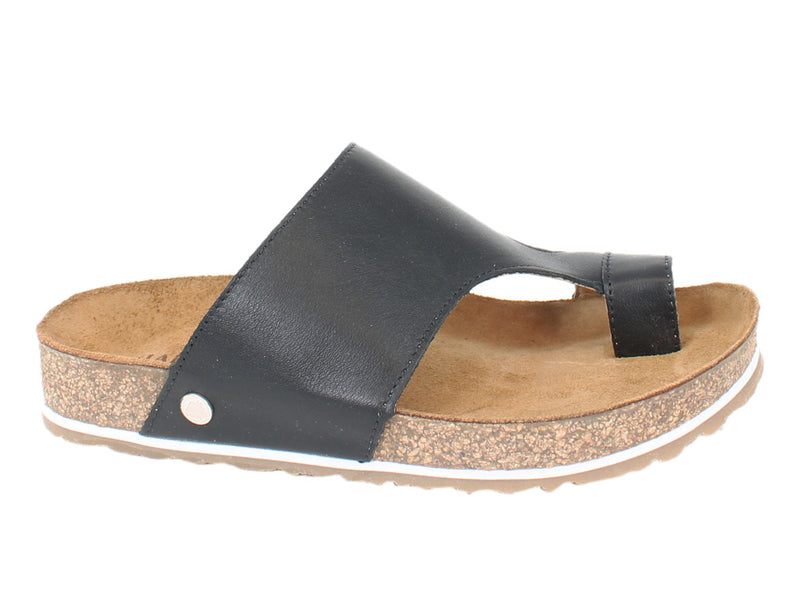 Haflinger Sandals Anka Black side view
