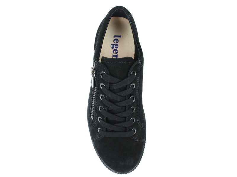 Legero Trainers Tanaro 00616 Black zip top view