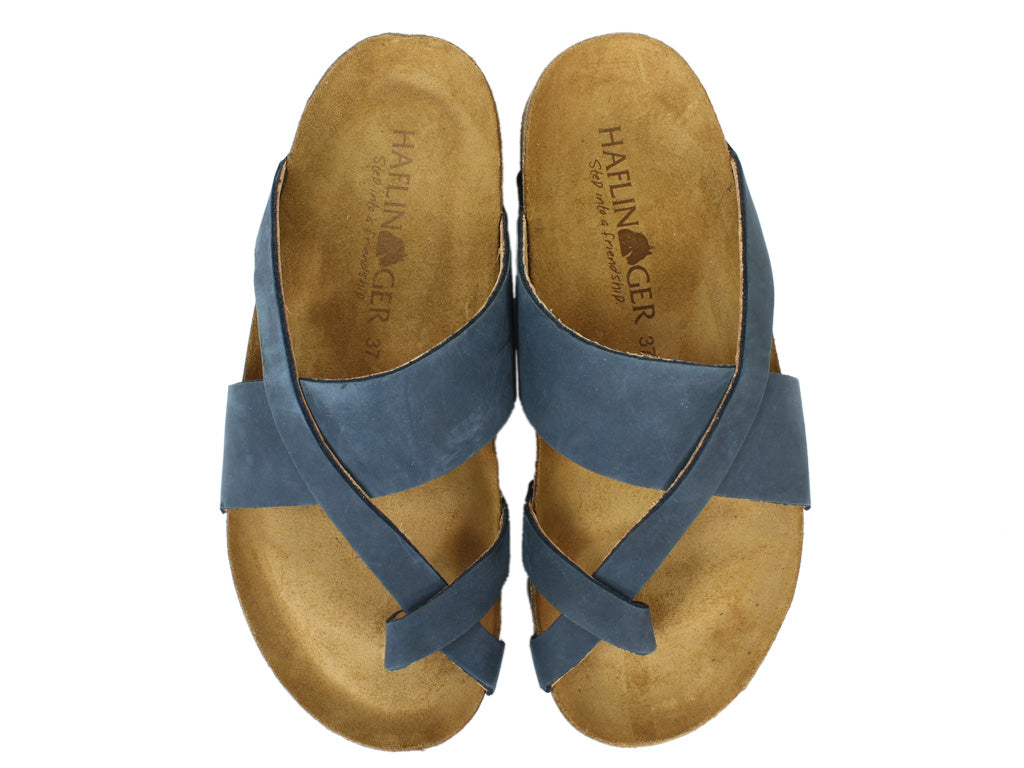 Haflinger Sandals Jacks Navy upper view