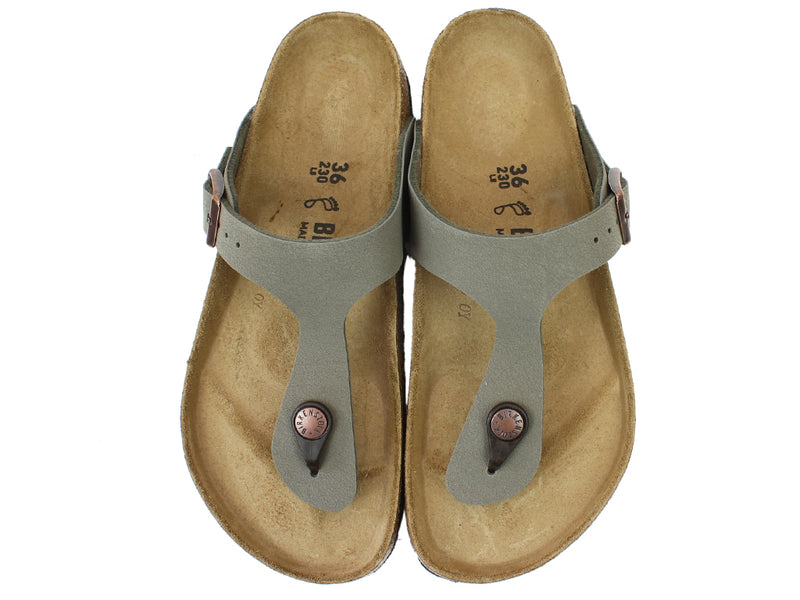 Birkenstock Sandals Gizeh Stone upper view