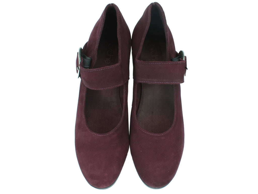 Arche Shoes Abenoa Aubergine upper view
