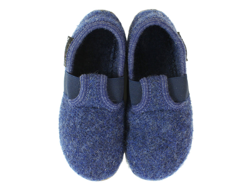 Haflinger Children's slippers Everest Jonas Jeans upper view